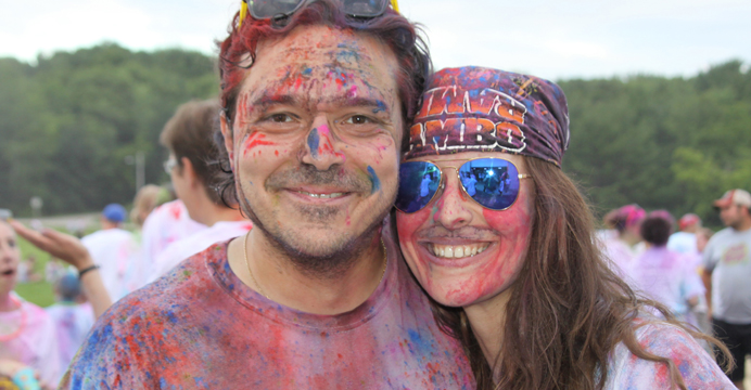 Raz Damaschin and Stephanie Garza of Iola decided to participate in the Color Burst 5K Run on a whim, but said it was a great experience and a lot of fun.