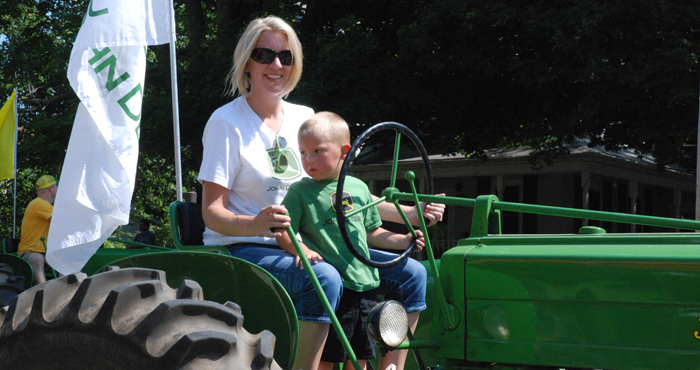 Bridget McArtney and her son, Grant, were part of the Clintonville Firemen's Festival Parade.