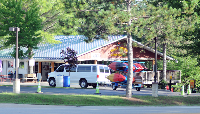 Business carried on at Wolf River Trips and Campground in New London despite the summer blastomycosis outbreak, owner Mark Flease said. Scott Bellile photo