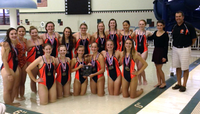 The Clintonville girls' swimming team won the Bay Conference Relay at Sturgeon Bay on Thursday, Sept. 3.  Submitted photo