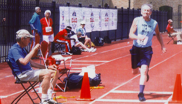 Manawa's Duncan Beck competes at the Senior National Games at St. Thomas University in St. Paul, Minn.  Submitted Photo