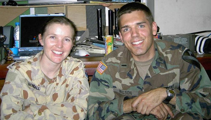 Jim Wilson with  Jada Bendall, an officer with the Australian Army, while he was deployoed on a humanitarian mission in Pakistan. Submitted Photo