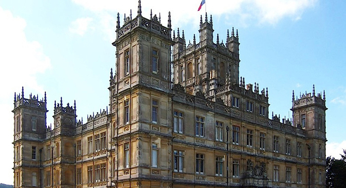 Highclere Castle is used for filming Downton Abbey on the PBS series.  Photo:  JBUK_Planet/ Wikimedia Commons