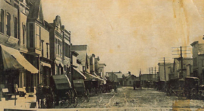 A photograph thought to be Main Street in Hortonville. It was found inside 116 W. Main St. while Claire Abitz was gutting the interior.  Photo courtesy of Diane Wessel