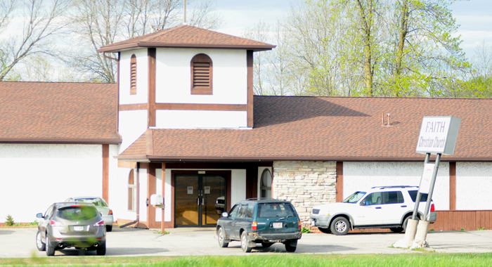 Faith Christian Church in Hortonia wants to buy the current Northland Electric facility north of New London. Faith Christian's current building, pictured, must be demolished for the future State 15 bypass.  Scott Bellile photo