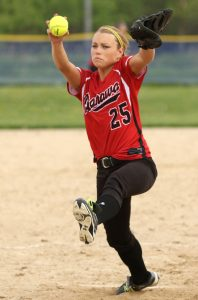Haley Reierson picked up the win on the mound for Manawa over Wittenberg-Birnamwood.  Holly Neumann Photo