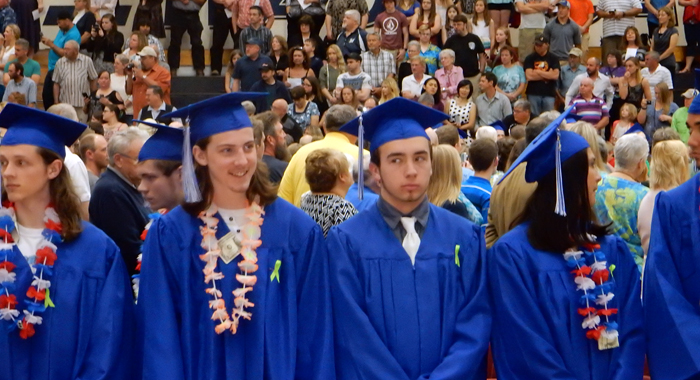 Waupaca High School held its graduation ceremonies for the Class of 2016 on Sunday, May 29.  Robert Cloud Photo