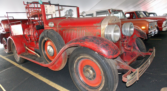 This 1926 Cadillac converted to a fire truck was exhibited at Iola '16 by Scott Hoffman, of Cheeseville. It was used by the Marathon City Fire Department.Jane Myhra Photo