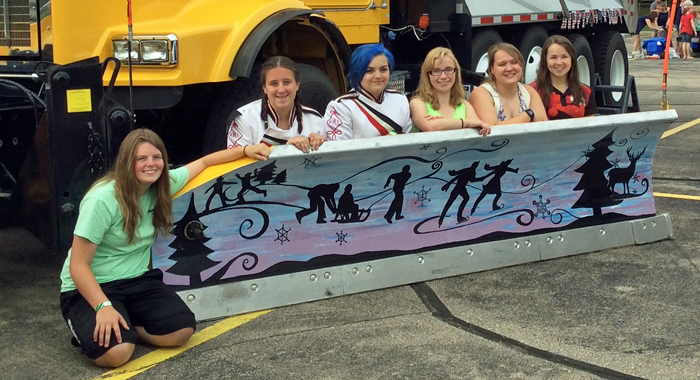 Plow painters included (from left) Brittany Besaw, Alexandria Rae, Maquelle Moede, Charley Gehrke, Sylvia Much and Samantha Struzynski. Submitted Photo