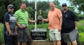 Will Bierowski, Rodney Cromwell, Jim Mohr and Phil Nelson won the Golfing for Veterans scramble on June 25. Submitted photo