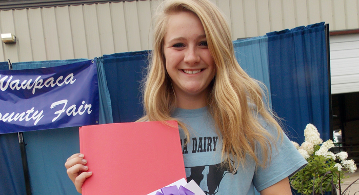 A disease book created by Elisha Riley, of Waupaca, won grand champion in animal and vet science. Jane Myhra Photo
