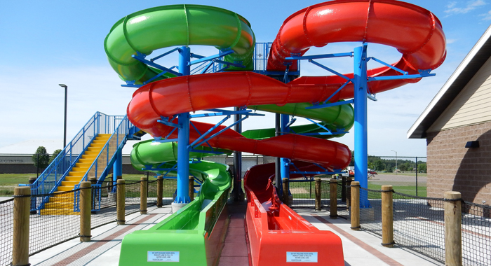 The water slides at Beirman Family Aquatic Center in Merrill. Foto News photo