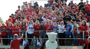 Hortonville High School students cheer from the stands of Akin Field at the 2015 homecoming pep rally. Scott Bellile file photo