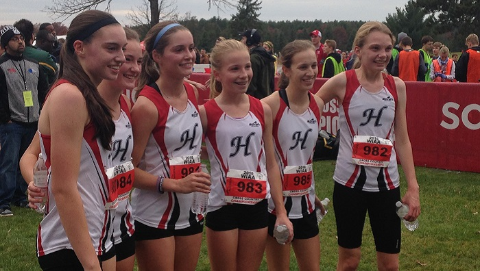 The Hortonville girls cross country team finished in 12th place in state competition. Erik Buchinger photo