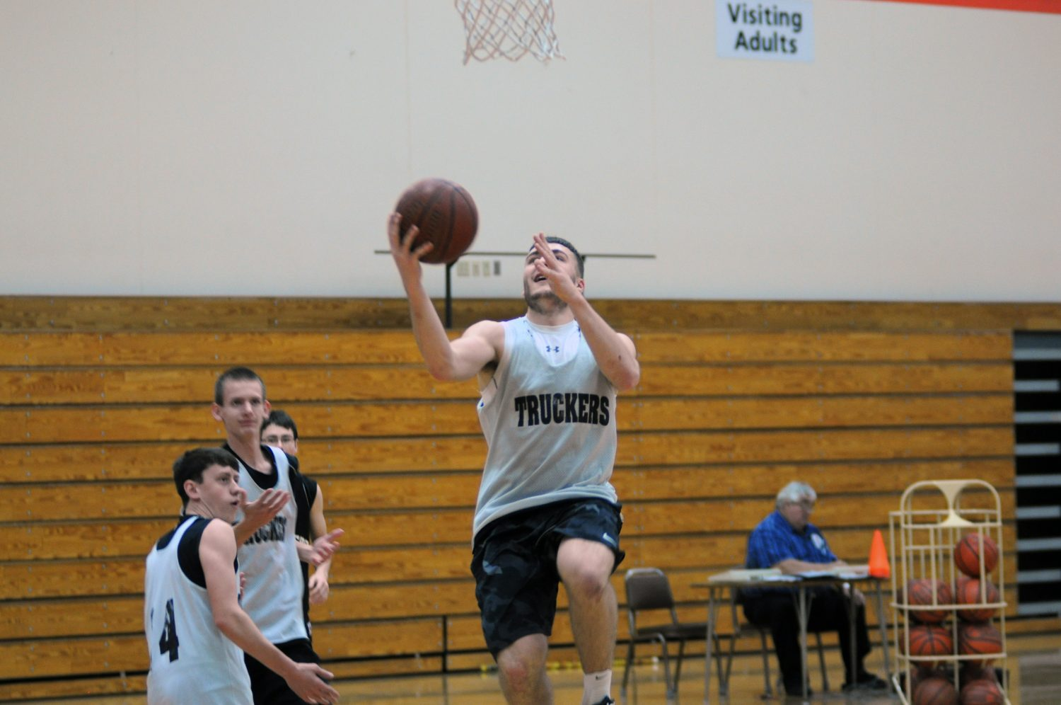 Tyler Petermann goes up for a layup during practice on Friday, Nov. 18. Erik Buchinger photo
