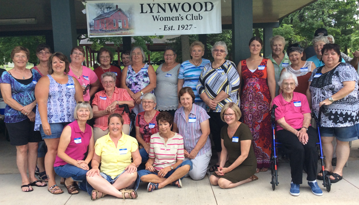Twenty-four of the 25 members of the Lynwood Women's Club attended the July 11th event which included a reunion for those who attended the school and celebration of the club's 90th anniversary. Submitted Photo
