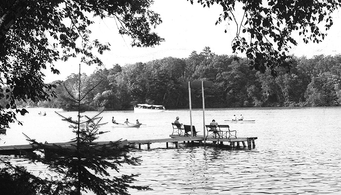 This postcard of McCrossen Lake is from 1948. Photo courtesy of the Waupaca Historical Society