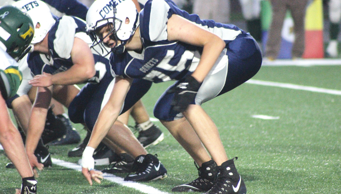 Jared Miller lines up as a left tackle for Waupaca.Greg Seubert Photo