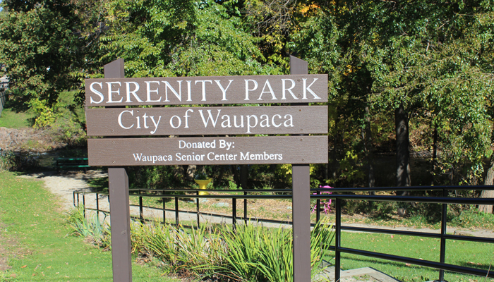 Serenity Park, located along the Waupaca River and behind the Waupaca Recreation Center, is included in the planning effort.Angie Landsverk Photo