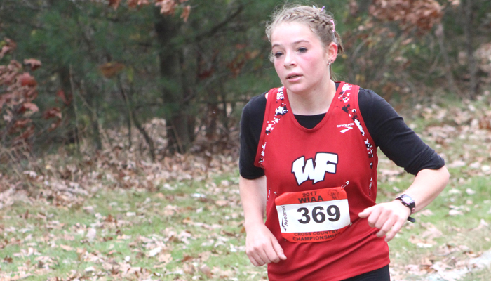 Junior Mikyla Reeck competes in the girls' Division 3 race for Weyauwega-Fremont.Greg Seubert Photo