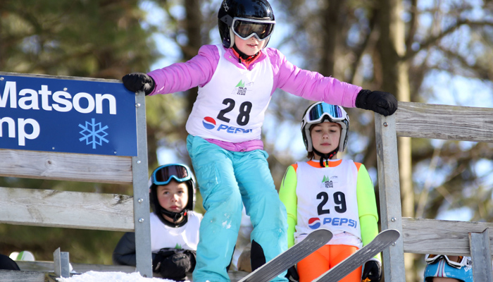 Sammi Kleba, of the Snowflake Ski Club, gets ready during last year's competition. Holly Neumann Photo